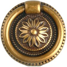 Louis XVI Brass Drop Pull in Dark Antique Brass