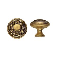 "Brass 0.98"" Round Knob in French Antique Gold"