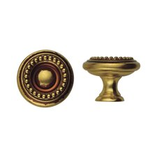 "Louis XVI 0.98"" Round Knob in French Antique Gold"