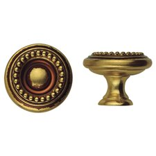 "Louis XVI 1.18"" Round Knob in French Antique Gold"