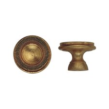 Louis XVI Round Knob in French Antique Gold
