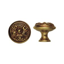 Louis XV Round Knob in French Antique Gold