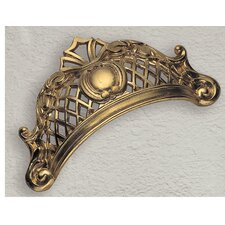 Baroque Series Bin Pull in Dark Antique Brass