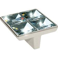 "Swarovski Crystal 2.25"" Square Knob"