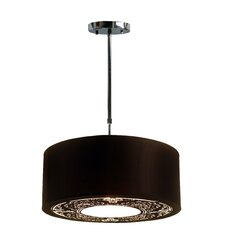<strong>Tay Lighting</strong> Malina Cotton Pendant with Black Shade