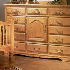 <strong>Bebe Furniture</strong> Country Heirloom 12 Drawer Oversized Combo Dresser