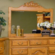 <strong>Bebe Furniture</strong> Country Heirloom Crowned Top Dresser Mirror