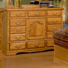 Country Heirloom 12 Drawer Combo Dresser