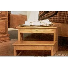 <strong>Bebe Furniture</strong> Country Heirloom Foot Step Stool in Light Wood