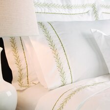 Sateen Embroidered 400 Thread Count Pilllow Case in Fern
