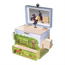 "Horse Ranch 6"" High Treasure Box"