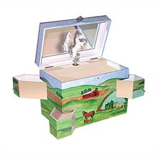 "Hide Away Horse 7.75"" High Treasure Box"