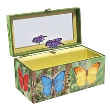 Butterflies Music Jewelry Box