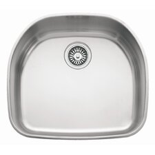 "Prestige 22.25"" x 19.88"" Classic Undermount Kitchen Sink"
