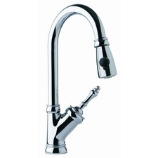 Farm House Single Handle Single Hole Arc Pull Down Kitchen Faucet