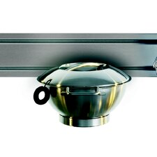 Rail System Salad Spinner in Stainless Steel