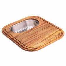Euro-Pro Cutting Board with Stainless Steel Colander in Teak