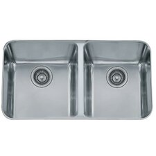 "32.75"" x 19.5"" Largo Double Bowl Kitchen Sink"