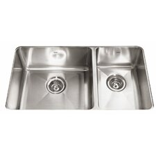 "Professional 31.88"" x 18.13"" Double Bowl Kitchen Sink"