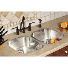 "34.06"" x 20.44"" Regatta Double Bowl Kitchen Sink"