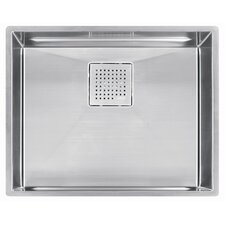 "Kubus 23"" Stainless Steel Single Bowl Kitchen Sink"