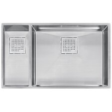 "Peak 31.13"" x 17.75"" Double Bowl Kitchen Sink"