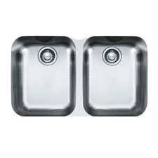 "<strong>Franke</strong> 31"" x 19.13"" Artisan Double Bowl Undermount Kitchen Sink"
