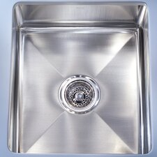 "Professional 14.56"" x 19.5"" Under Mount Kitchen Sink"