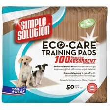 <strong>Simple Solution</strong> Eco-Care Puppy Training Pads - 50 Pad Pack