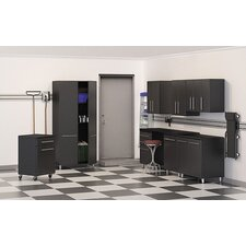 Garage 7' H x 2' D 9-Piece Deluxe Storage System with Workstation