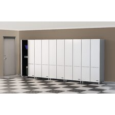 Storage 5-Piece 2-Door Tall Cabinet Kit in Starfire Pearl