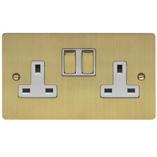 13A Two Gang Switch / Socket 'T' DP