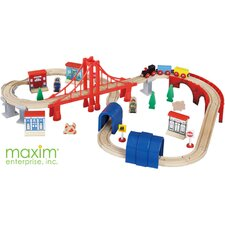 Wooden Tracks 60 Pieces Wooden Train Set