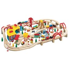 Wooden Tracks 145 Pieces Wooden Train Set
