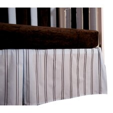 <strong>Go Mama Go</strong> Baby Basics Striped Box Pleat Crib Skirt