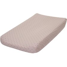<strong>Go Mama Go</strong> Pink with Chocolate Dots Changing Pad Cover