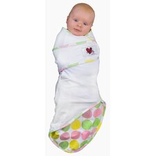 <strong>Go Mama Go</strong> Snug and Tug Swaddle Blanket, Tickled Pink - Small