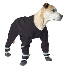 Dog Jog Rainsuit in Black