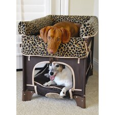 Co-Sleeper Pet Bunk Bed Plush Leopard Liner - Large Size