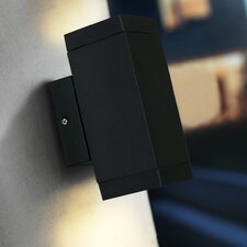 Qubo Outdoor 2 Light Semi-Flush Wall Light