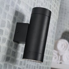 Tin Maxi 2 Light Outdoor Wall Light in Black
