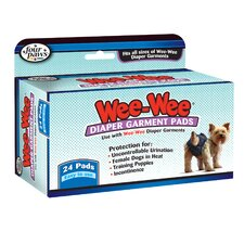 <strong>Four Paws</strong> Wee-Wee Dog Diaper Garment Pads