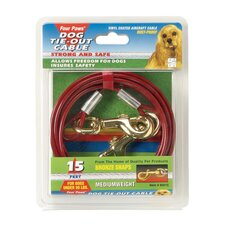 Dog Tie Out Cable in Red