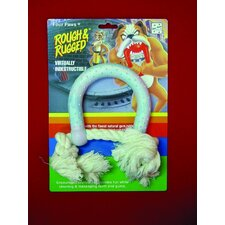 Horseshoe Dog Toy With Rope