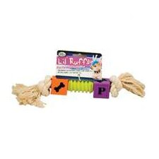 Lil Ruffs Puppy Blocks and Rope with Ribbed Center Dog Toy