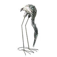 Feeding Metal Crane Statue