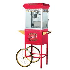 Pasedena 8 Ounce Antique Popcorn Machine with Cart