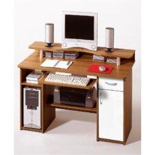 """Computer Schreibtisch """"Moni"""" in Weiß / Walnuss"""