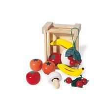 Kiste mit Obst in Bunt lackiert