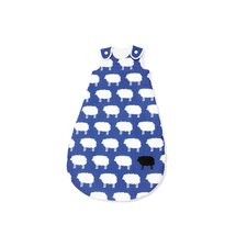 "130cm Winter-Kugelschlafsack ""Happy Sheep"" in Blau"